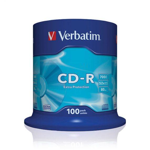 CD-R 700MB VERBATIM 52X CAKE (100 τμχ)