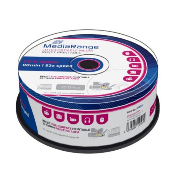 CD-R 700MB MEDIARANGE 52X CAKE (25 τμχ)