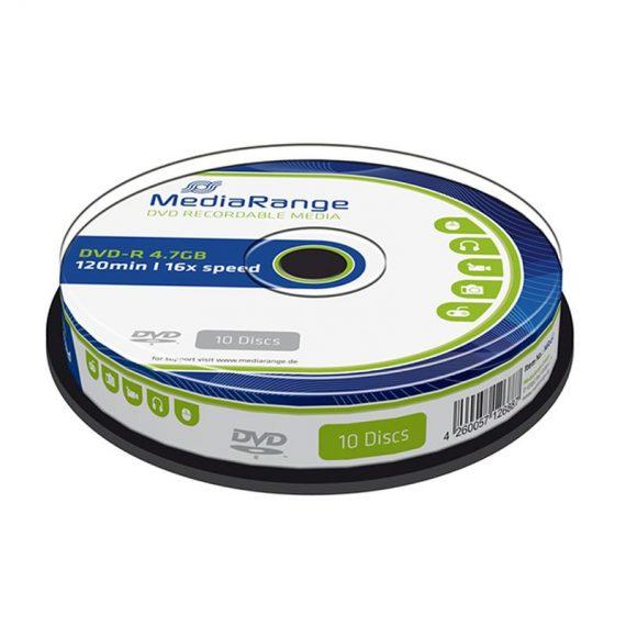 DVD- R 4.7 GB MEDIARANGE 16X CAKE (10 τμχ)
