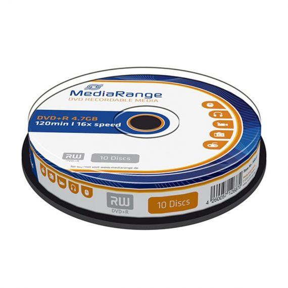 DVD+ R 4.7 GB MEDIARANGE 16X CAKE (10 τμχ)