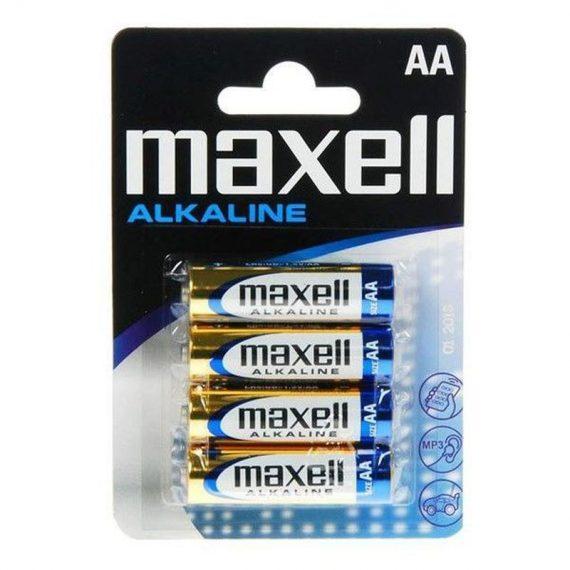 ΜΠΑΤΑΡΙΕΣ ΑΛΚΑΛΙΚΕΣ MAXELL ΑΑ (4 τμχ) (MX16376)