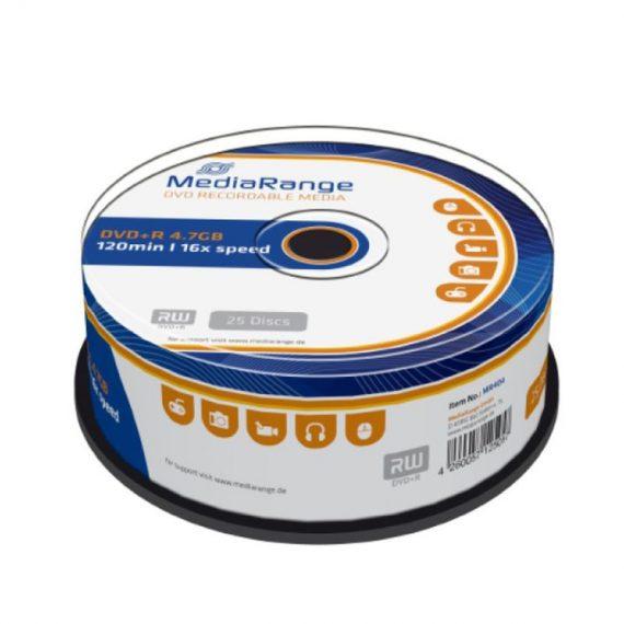 DVD+ R 4.7 GB MEDIARANGE 16X CAKE (25 τμχ)