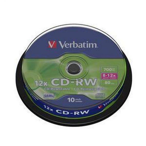 CD-RW 700MB VERBATIM 12X CAKE (10 τμχ)