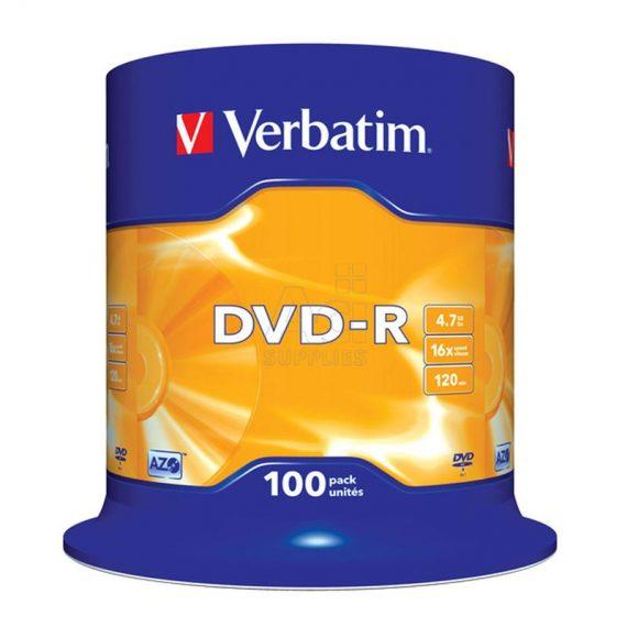 DVD- R 4.7 GB VERBATIM 16X CAKE (100 τμχ)