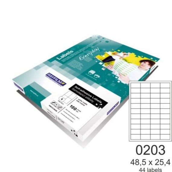 ΕΤΙΚΕΤΕΣ RAYFILM 48.5 Χ 25.4 (44 τμχ) 100 φ. (R0100.0203A)