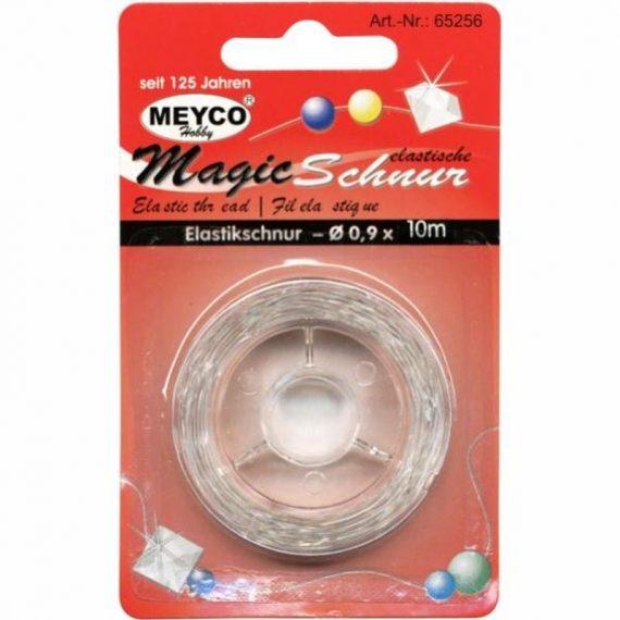 ΚΟΡΔΟΝΙ ΕΛΑΣΤΙΚΟ ΛΕΥΚΟ 0.6mm Χ 10m MEYCO (65255)